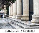 detail of a court house. roman... | Shutterstock . vector #544889023