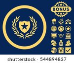 glory shield icon with bonus... | Shutterstock . vector #544894837