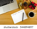new year's resolutions on the... | Shutterstock . vector #544894897