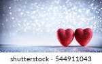 valentines card   shiny two... | Shutterstock . vector #544911043