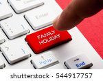 family holiday word concept... | Shutterstock . vector #544917757