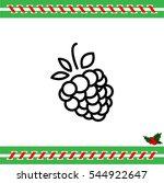 web line icon. raspberries   Shutterstock .eps vector #544922647