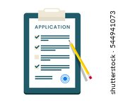 application form. documents... | Shutterstock . vector #544941073