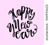 happy new year. hand lettered... | Shutterstock .eps vector #544955623