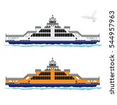 ferry istanbul vector.   Shutterstock .eps vector #544957963