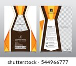 gold black annual report... | Shutterstock .eps vector #544966777