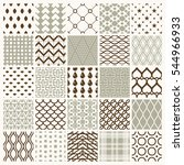 set of endless geometric...   Shutterstock . vector #544966933