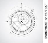 technical blueprint  digital... | Shutterstock . vector #544971727