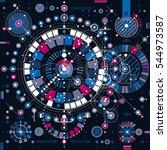 bauhaus art dimensional... | Shutterstock . vector #544973587