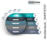 infographic business sphere... | Shutterstock .eps vector #544975747