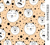 cute seamless pattern with... | Shutterstock .eps vector #544982383