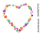 colorful hearts candy frame for ... | Shutterstock .eps vector #544987573