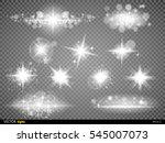 set white glowing light burst... | Shutterstock .eps vector #545007073