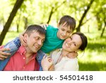 family of three on the nature | Shutterstock . vector #54501418