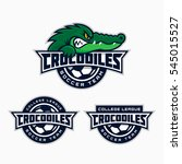 set of crocodiles mascot for a...   Shutterstock .eps vector #545015527
