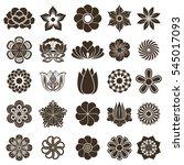 vintage flower buds design... | Shutterstock . vector #545017093