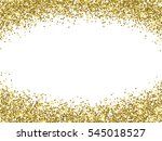 vector gold glitter confetti... | Shutterstock .eps vector #545018527