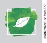 leaf green watercolor... | Shutterstock .eps vector #545021677