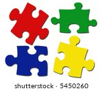 puzzle pieces illustration | Shutterstock . vector #5450260