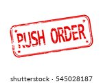 rubber stamp with the word rush ... | Shutterstock .eps vector #545028187