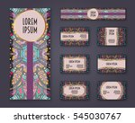 business cards  invitations and ... | Shutterstock .eps vector #545030767