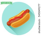 hot dog  hot dog icon  fast... | Shutterstock .eps vector #545049277