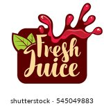 vector banner with a spray of... | Shutterstock .eps vector #545049883