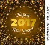 happy new year 2017 greeting...   Shutterstock .eps vector #545051293