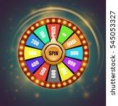 fortune wheel | Shutterstock .eps vector #545053327