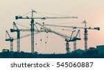 group of construction tower... | Shutterstock . vector #545060887