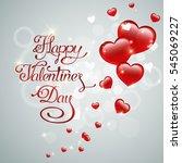 valentines day hand drawn... | Shutterstock .eps vector #545069227