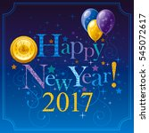 happy new year 2017 logo icon.... | Shutterstock .eps vector #545072617