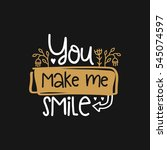 vector poster with phrase and... | Shutterstock .eps vector #545074597