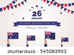 26 january. australia day... | Shutterstock .eps vector #545083903