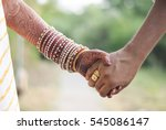 indian married couple holding... | Shutterstock . vector #545086147