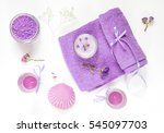 spa products. lavender bath... | Shutterstock . vector #545097703