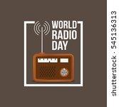 world radio day vector... | Shutterstock .eps vector #545136313