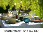 alfresco dining  table set for... | Shutterstock . vector #545162137