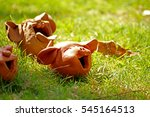 decorative clay doll in the... | Shutterstock . vector #545164513