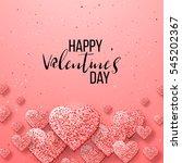 happy valentine day festive... | Shutterstock .eps vector #545202367