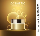 cosmetic product poster  gold... | Shutterstock .eps vector #545203873