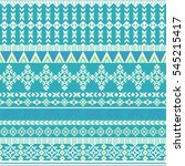 ethnic seamless pattern with... | Shutterstock .eps vector #545215417