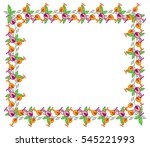 beautiful frame with decorative ... | Shutterstock .eps vector #545221993