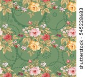 seamless floral pattern with... | Shutterstock .eps vector #545228683
