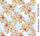 seamless floral pattern with... | Shutterstock .eps vector #545228743
