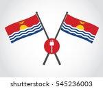 kiribati emblem electricity... | Shutterstock .eps vector #545236003