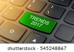 close up the trends 2017 button ...   Shutterstock . vector #545248867