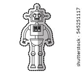 isolated robot cartoon design | Shutterstock .eps vector #545251117