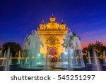 patuxay or patuxai is a war... | Shutterstock . vector #545251297