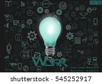icon lamp business success... | Shutterstock .eps vector #545252917